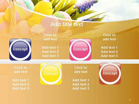 Basket with Easter Eggs PowerPoint Template Slide 19
