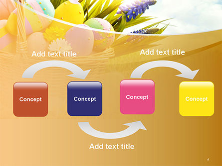 Basket with Easter Eggs PowerPoint Template, Slide 4, 14618, Holiday/Special Occasion — PoweredTemplate.com