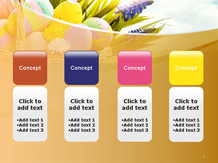 Basket with Easter Eggs PowerPoint Template Slide 5