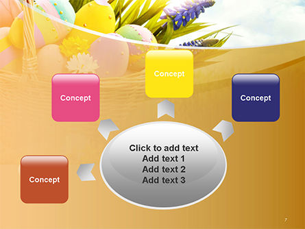 Basket with Easter Eggs PowerPoint Template Slide 7