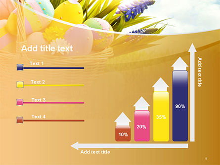 Basket with Easter Eggs PowerPoint Template Slide 8