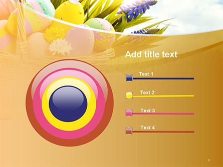 Basket with Easter Eggs PowerPoint Template Slide 9