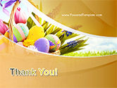 Basket with Easter Eggs PowerPoint Template#20