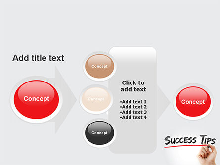 A Hand Writing 'Success Tips' with Marker PowerPoint Template Slide 17
