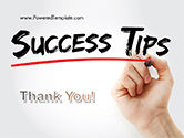 A Hand Writing 'Success Tips' with Marker PowerPoint Template#20