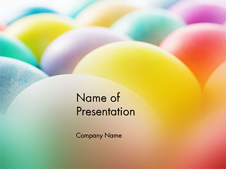 Holiday/Special Occasion: Colorful Easter Eggs PowerPoint Template #14620