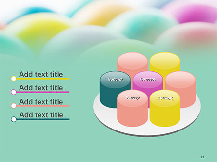 Colorful Easter Eggs PowerPoint Template Slide 12
