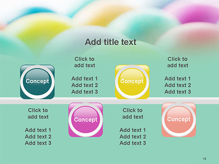 Colorful Easter Eggs PowerPoint Template Slide 18