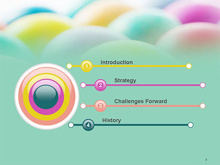 Colorful Easter Eggs PowerPoint Template Slide 3