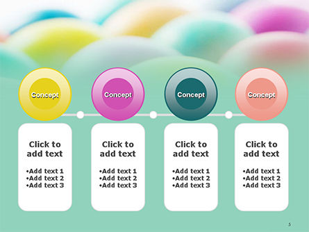 Colorful Easter Eggs PowerPoint Template Slide 5