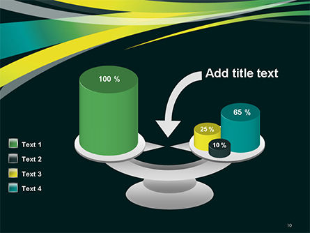 Perspective Effect of Colorful Ribbons PowerPoint template Slide 10