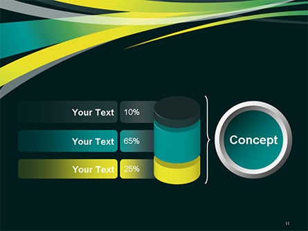 Perspective Effect of Colorful Ribbons PowerPoint template Slide 11