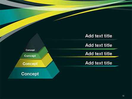 Perspective Effect of Colorful Ribbons PowerPoint template Slide 12