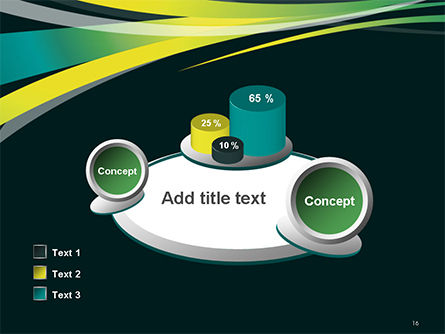 Perspective Effect of Colorful Ribbons PowerPoint template Slide 16