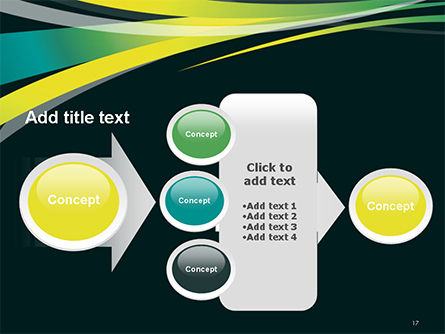 Perspective Effect of Colorful Ribbons PowerPoint template Slide 17