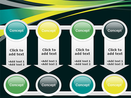 Perspective Effect of Colorful Ribbons PowerPoint template Slide 18