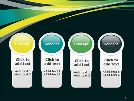 Perspective Effect of Colorful Ribbons PowerPoint template Slide 5
