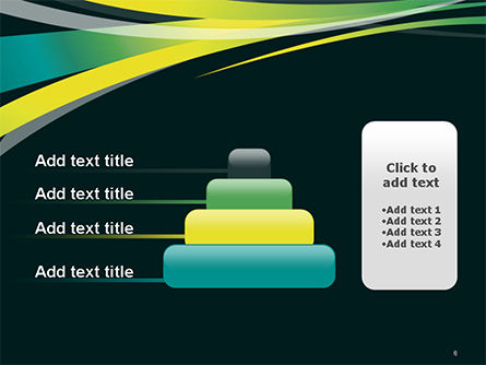 Perspective Effect of Colorful Ribbons PowerPoint template Slide 8