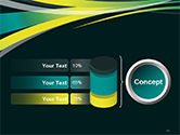 Perspective Effect of Colorful Ribbons PowerPoint template#11