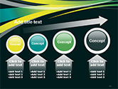 Perspective Effect of Colorful Ribbons PowerPoint template#13