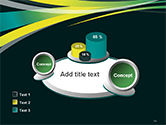 Perspective Effect of Colorful Ribbons PowerPoint template#16