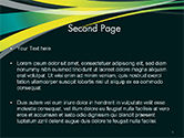 Perspective Effect of Colorful Ribbons PowerPoint template#2
