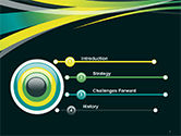 Perspective Effect of Colorful Ribbons PowerPoint template#3