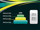 Perspective Effect of Colorful Ribbons PowerPoint template#8