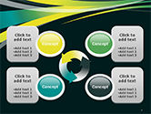 Perspective Effect of Colorful Ribbons PowerPoint template#9