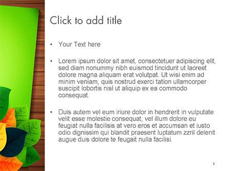 Rainbow Leaves PowerPoint Template, Slide 3, 14623, Nature & Environment — PoweredTemplate.com