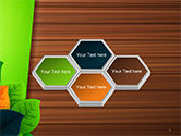 Rainbow Leaves PowerPoint Template#5