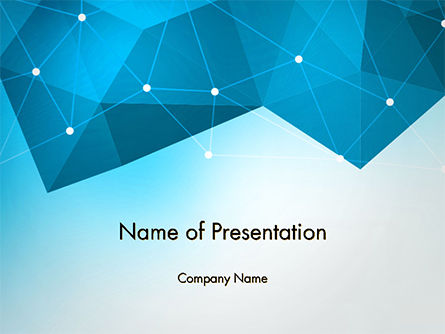 Abstract/Textures: Polygons and Connected Dots PowerPoint Template #14624