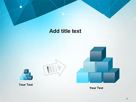 Polygons and Connected Dots PowerPoint Template Slide 13