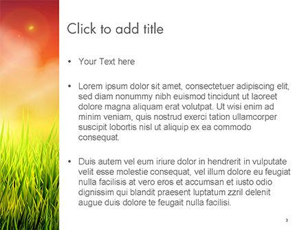 Dawning PowerPoint Template, Slide 3, 14625, Nature & Environment — PoweredTemplate.com