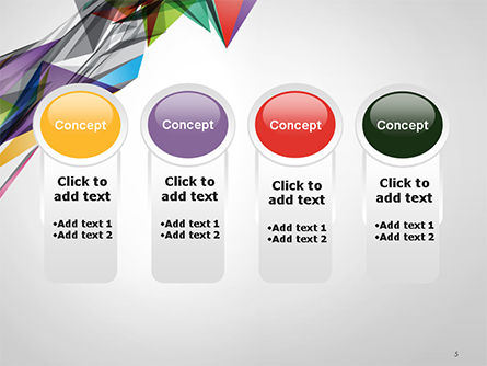 Abstract Geometric Shapes PowerPoint Template Slide 5