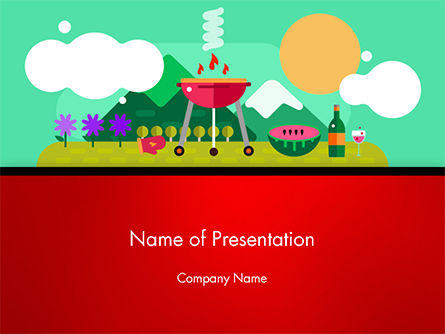 Food & Beverage: BBQ Picnic PowerPoint Template #14628