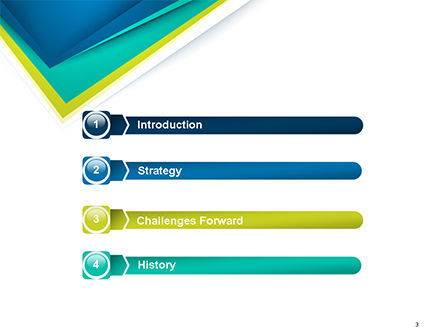 Abstract Angle Paper Layer PowerPoint Template, Slide 3, 14630, Abstract/Textures — PoweredTemplate.com