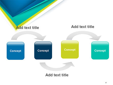 Abstract Angle Paper Layer PowerPoint Template, Slide 4, 14630, Abstract/Textures — PoweredTemplate.com