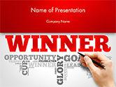 Winner Word Cloud PowerPoint Template#1
