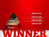 Winner Word Cloud PowerPoint Template#12