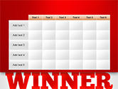 Winner Word Cloud PowerPoint Template#15
