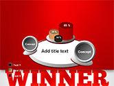 Winner Word Cloud PowerPoint Template#16