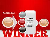Winner Word Cloud PowerPoint Template#17