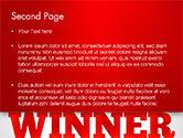 Winner Word Cloud PowerPoint Template#2