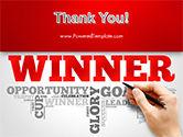 Winner Word Cloud PowerPoint Template#20