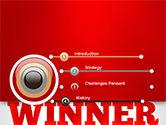 Winner Word Cloud PowerPoint Template#3