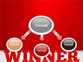 Winner Word Cloud PowerPoint Template#4