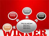 Winner Word Cloud PowerPoint Template#7