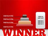 Winner Word Cloud PowerPoint Template#8