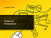 Art & Entertainment: Media Content Concept PowerPoint Template #14634